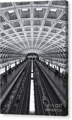 Washington Dc Metro Station II Canvas Print by Clarence Holmes