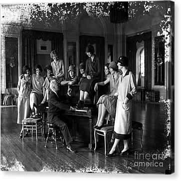 Debutante Canvas Print - Washington Debutantes Rehearsing by Photo Researchers