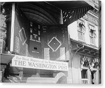 Washington Post Sponsored Scoreboard Canvas Print by Everett