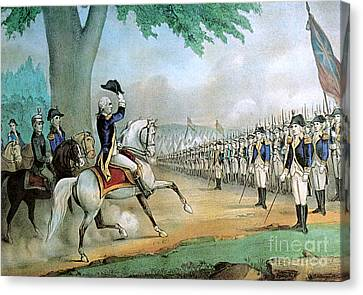 Washington Taking Command Of American Canvas Print