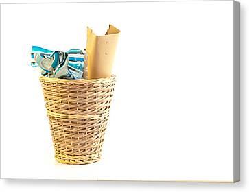 Waste Paper Bin Canvas Print