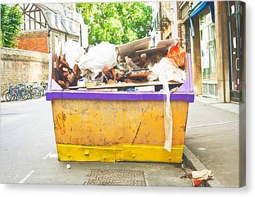 Waste Skip Canvas Print