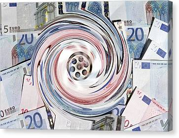 Wasting Money, Conceptual Image Canvas Print by Victor De Schwanberg