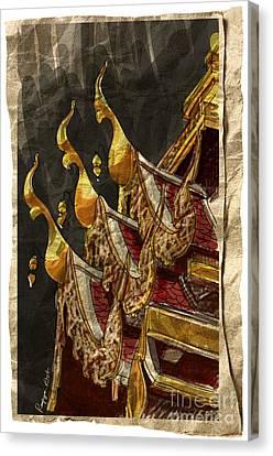 Wat Chai Mong Khon. Canvas Print by Panupong Roopyai