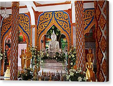 Buddhist Canvas Print - Wat Chalong 4 by Metro DC Photography