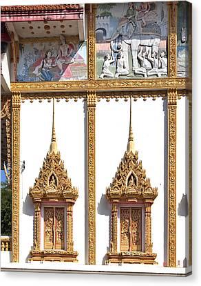 Wat Kan Luang Ubosot Windows Dthu189 Canvas Print by Gerry Gantt
