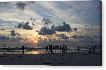Watchers At Sunset Canvas Print by Jeanne Kay Juhos