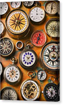 Watches And Compasses  Canvas Print by Garry Gay