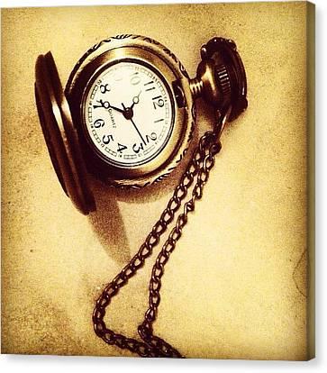 Steampunk Canvas Print - #watches #gold #bronze #steampunk by Anna Albrecht