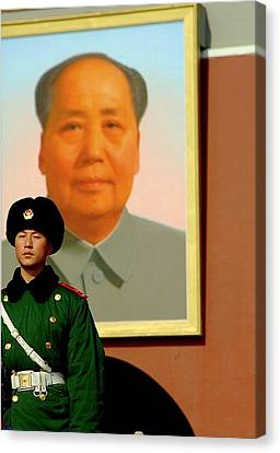 Watching Over Mao Canvas Print by Anthony Silver