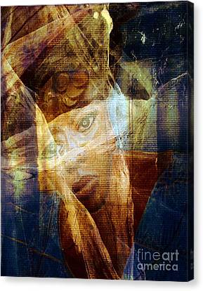 Watching The Violence Canvas Print by Fania Simon