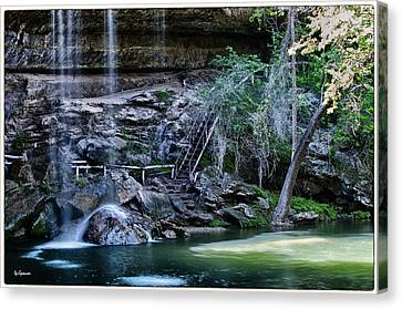 Water And Lights At Hamilton Pool Canvas Print