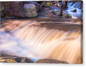 Water And Rocks Canvas Print by Marc Crumpler