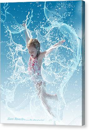 Water Baby Canvas Print by Suni Roveto