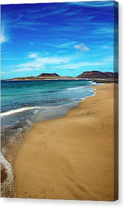 Water Caresses Sand Canvas Print by Andreas Weibel - www.imediafoto.com