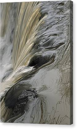 Hales Corners Canvas Print - Water Cascades Over A Waterfall by Paul Damien