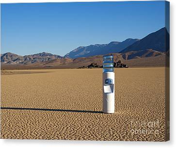Water Cooler In Desert Canvas Print by David Buffington