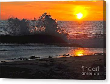 Canvas Print featuring the photograph Water Crystals by Johanne Peale