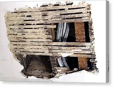 Water Damaged Ceiling Canvas Print by Victor De Schwanberg