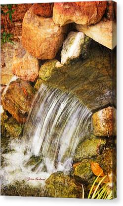 Canvas Print featuring the photograph Water Fall by Joan Bertucci