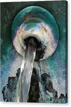 Water Flow Canvas Print by Bill Morgenstern