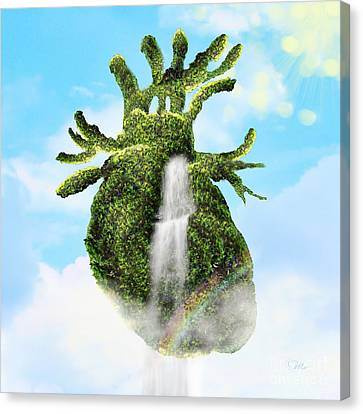 Water From The Heart Canvas Print by Mo T