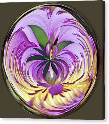 Water Lily Orb Canvas Print