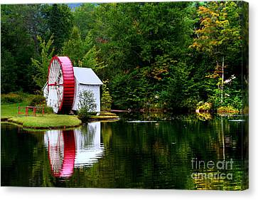 Water Mill Canvas Print by Adrian LaRoque