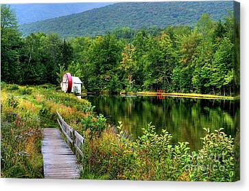Canvas Print featuring the photograph Water Mill II by Adrian LaRoque