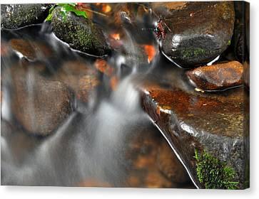 Canvas Print featuring the photograph Water Over Rocks by Kay Lovingood