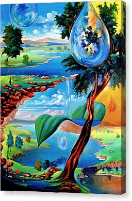Water Planet Canvas Print by Leomariano artist BRASIL