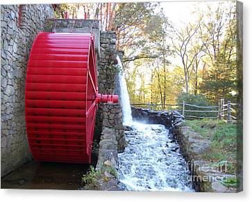 Water Powered Grist Mill Wheel Canvas Print by John Small
