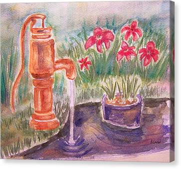 Water Pump Canvas Print by Belinda Lawson