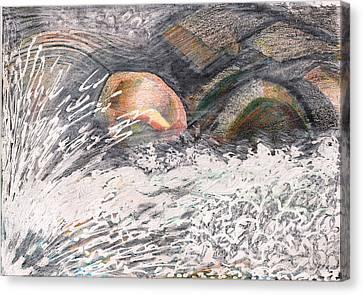 River Road Spring Melt Canvas Print by Al Goldfarb