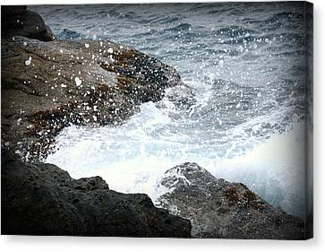 Water Splash Canvas Print by Kevin Flynn