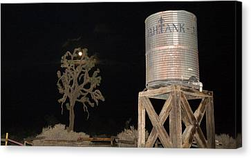 The B.h.water Tank Canvas Print by Gilbert Artiaga