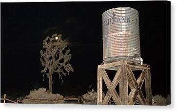 Outlook Canvas Print -  The B.h.water Tank by Gilbert Artiaga