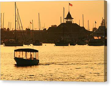 Canvas Print featuring the photograph Water Taxi by Coby Cooper