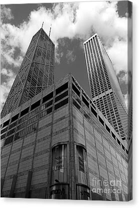 Water Tower Place And John Hancock Canvas Print