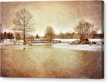 Canvas Print featuring the photograph Water Under The Bridge by Mary Timman