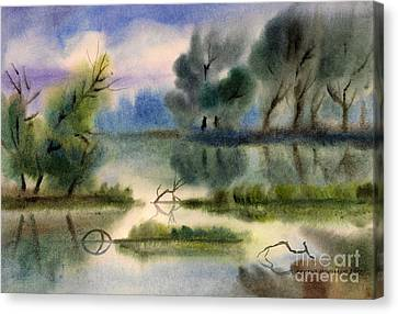Water View Landscape Canvas Print by Cristina Movileanu