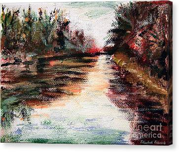 Water-way Oil Painting Canvas Print by Isabella F Abbie Shores FRSA