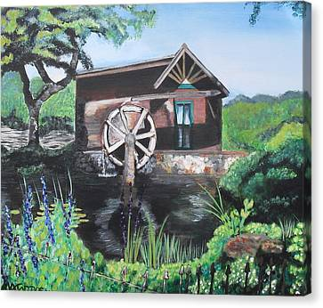 Water Wheel Canvas Print by Melissa Torres
