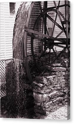 Water Wheel Old Mill Cherokee North Carolina  Canvas Print by Susanne Van Hulst