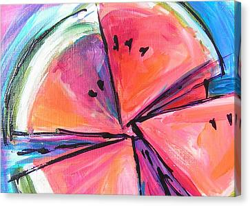Water Whirled Canvas Print by Judy  Rogan
