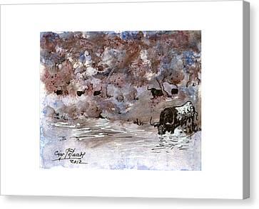 watercolours TORO I Canvas Print