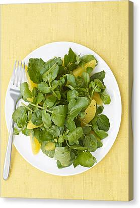 Watercress Orange Salad Canvas Print by James Baigrie