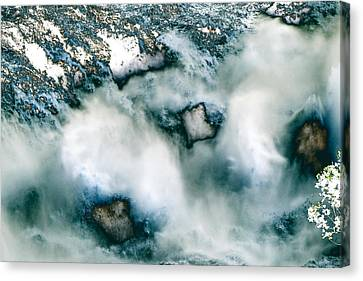 Waterfall 3 Canvas Print by Valerie Wolf