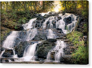 Canvas Print featuring the photograph Waterfall by Anna Rumiantseva