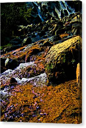 Waterfall  Canvas Print by Howard Perry